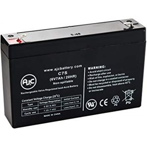 Batterie 6 volts 7.2 amp. dimension 6 x 1 3 / 8 x 3 3 / 4