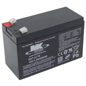Batterie12 volts 7.2 amp. dimension 6 x 2 1 / 2 x 3 3 / 4