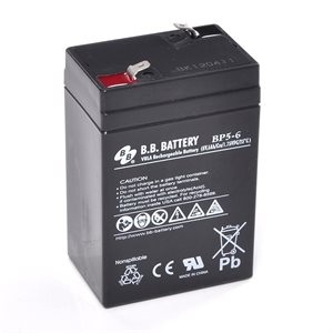 Batterie 6 volts 5 amp. dimension 2 3 / 4 x 1 7 / 8 x 4""