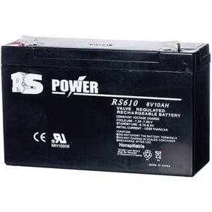 Batterie 6 volts 10 amp. dimension 6'' x 2'' x 3 3 / 4
