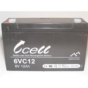 Batterie 6 volts 12 amp. dimension 6'' x 2'' x 3 3 / 4